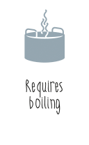 Requires boiling